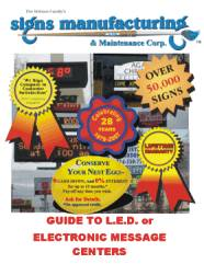 Signs Manufacturing's Sign Buyer's Guide to LED Electronic Message Center Signs